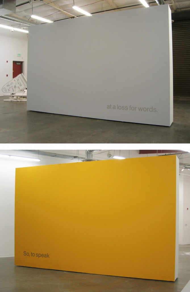 because silence is harder (two-sided wall)